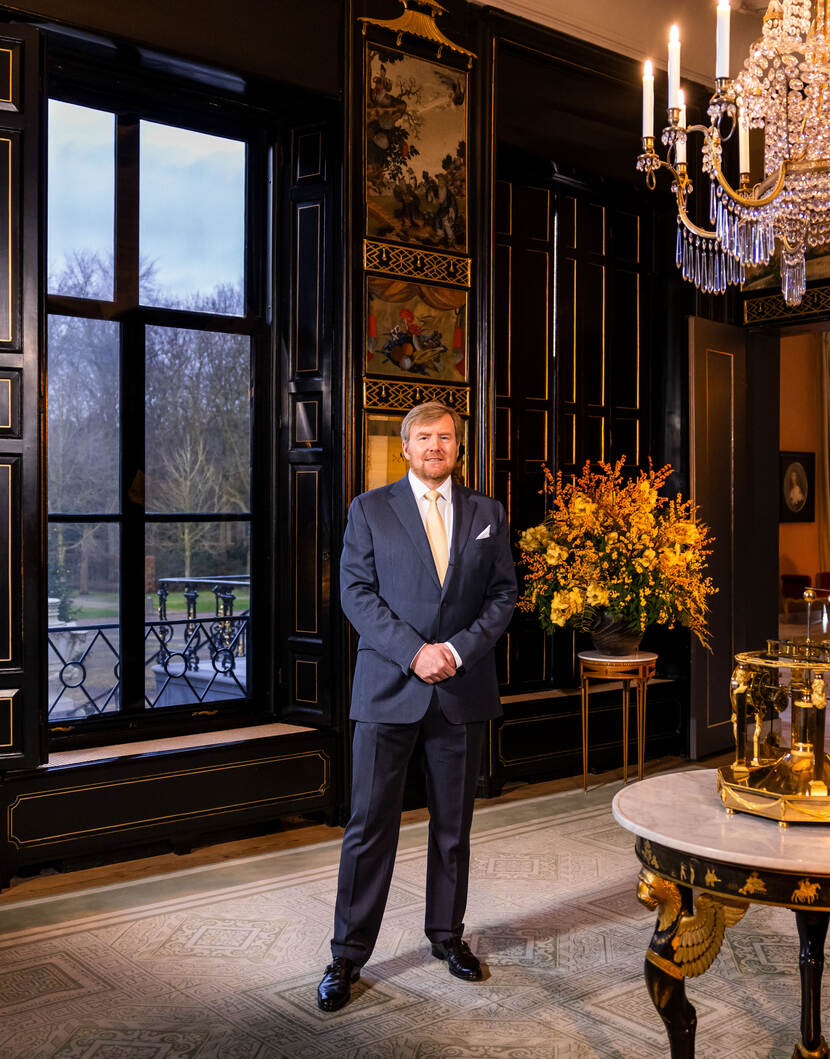 Koning in de Chinese Zaal.