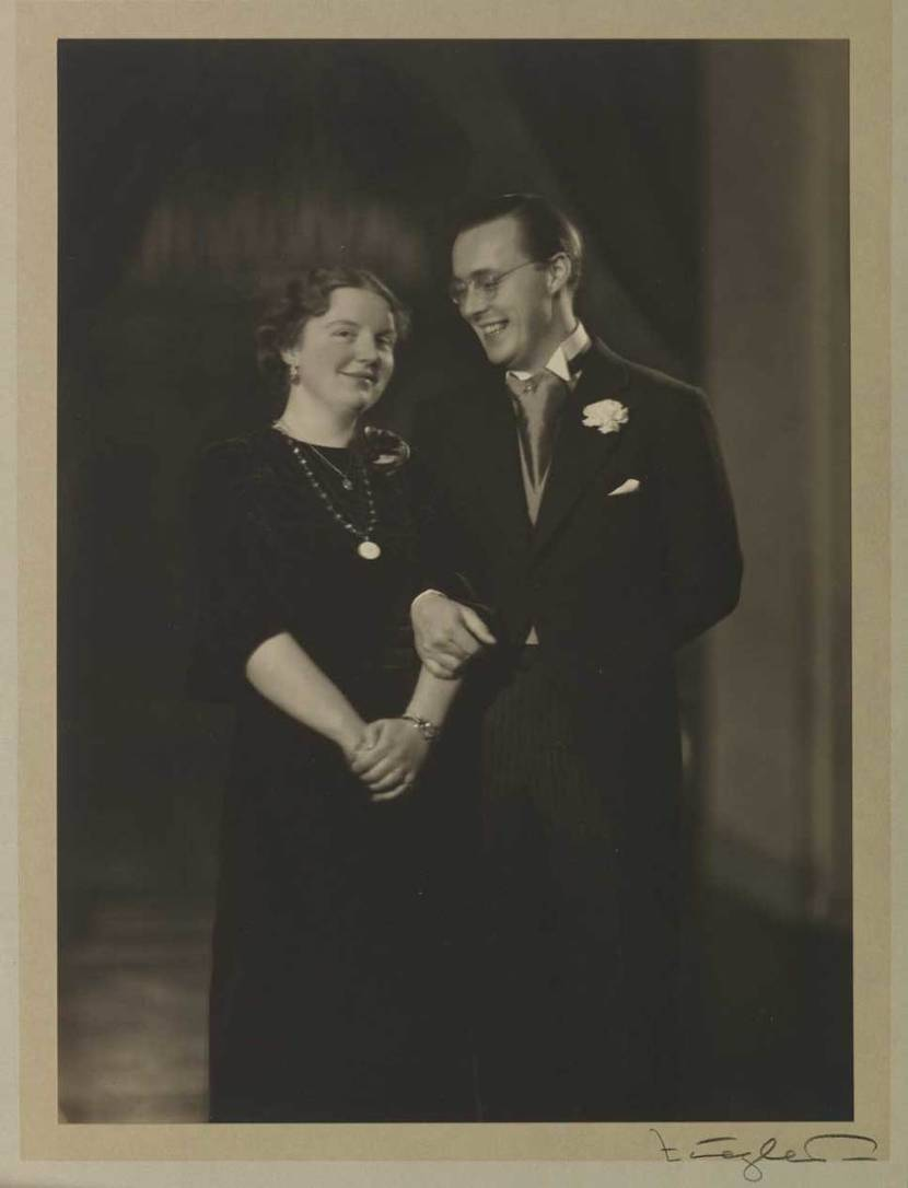 Foto van Prinses Juliana en Prins Bernhard, december 1936